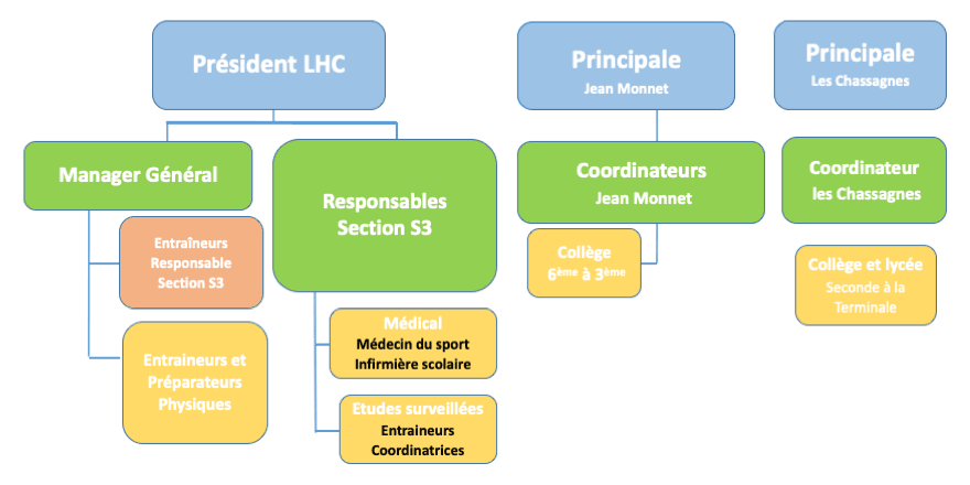 Organigramme section sportive